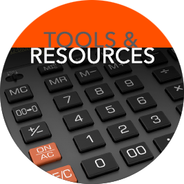 Find calculators, educational materials and more on our Tools & Resources page