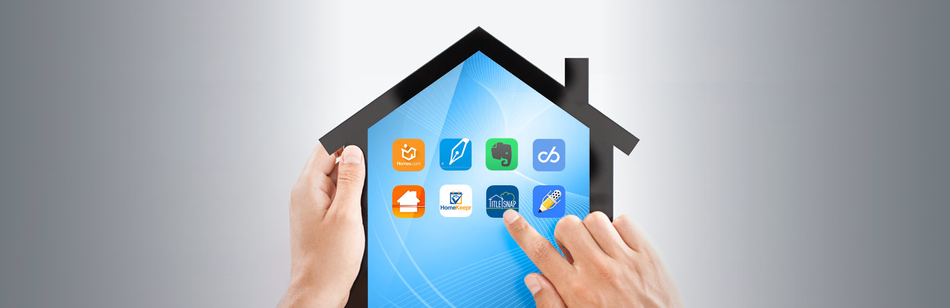 house shaped tablet with apps